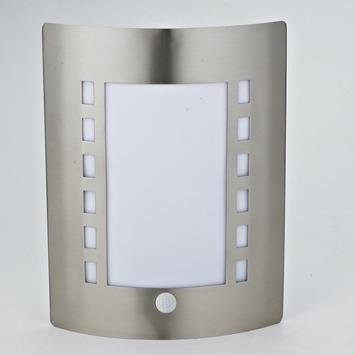 Applique extérieure avec détecteur de mouvement Glasgow GAMMA E27 60W inox ampoule non fournie