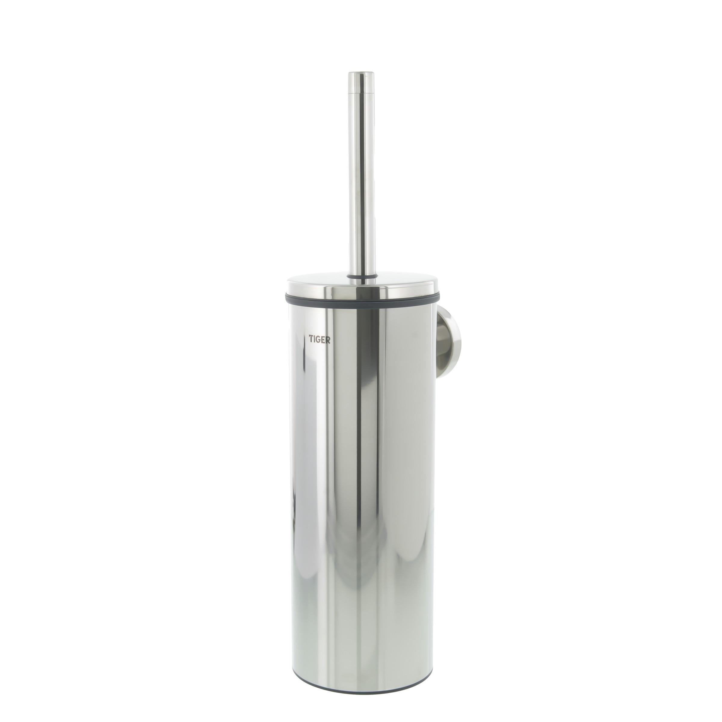 Ensemble brosse wc boston tiger chrom accessoires wc toilettes sanitai - Ensemble accessoires wc ...
