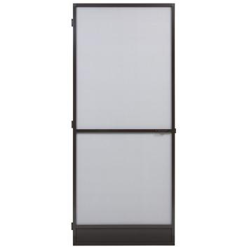 Fikszo hordeur Standaard aluminium bruin 235x100 cm