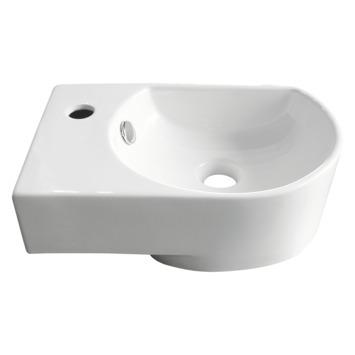 Lave-mains d'angle Flexy gauche 41x28cm blanc