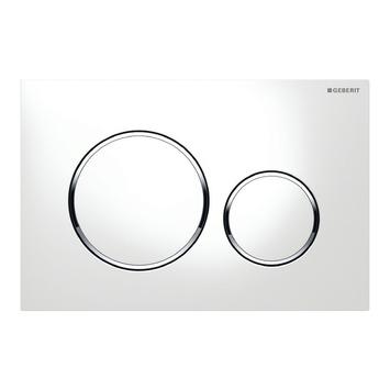 Plaque de commande Sigma 20 Geberit blanc pour réservoir Systemfix