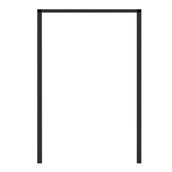 Cadre à encastrer pour porte-moustiquaire aluminium Fikszo 240x100 cm brun