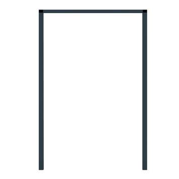 Fikszo inbouwkader voor hordeur aluminium antraciet 240x100 cm