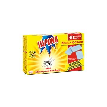 Tablettes anti-moustiques Vapona 20+10 gratuites