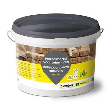 Mortier-colle pour pierre naturelle Beamix gris 10 kg