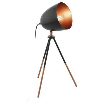 Lampe de table Chester Eglo E27 60 W cuivre noir