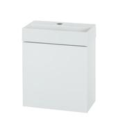 Ensemble de lave-mains Items Tiger 40 cm blanc brillant