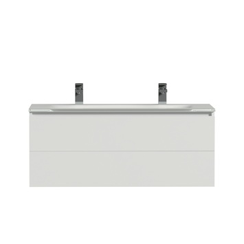 Tiger Items badkamerset 105 cm wit met wastafel glas wit