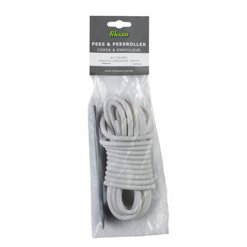 Corde + enrouleur pour moustiquaire  Fikszo 7 m blanc