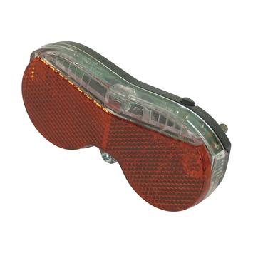 Dresco fietsachterlicht Modern 3 LEDs zwart