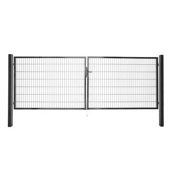 Dubbele poort Roma/Milano antraciet 2x 200x200 cm