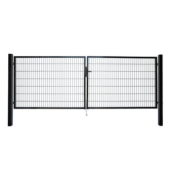 Dubbele poort Roma/Milano zwart 2x 120x200 cm