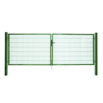 Dubbele poort Roma/Milano groen 2x 100x200 cm