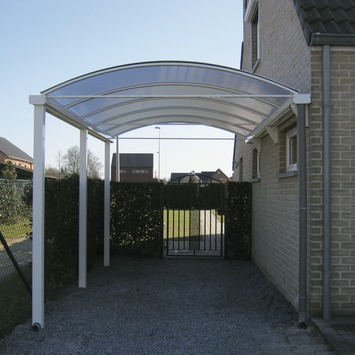 Car-port fixation murale translucide 300x800 cm blanc