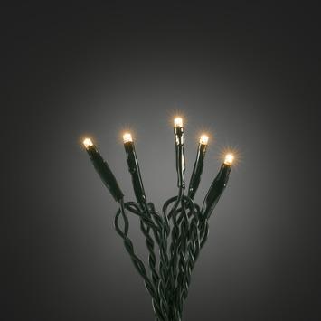 Kerstverlichting lichtsnoer met 100 microLEDlampjes extra warm wit voor binnen