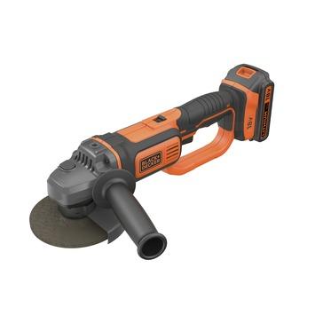 Meuleuse d'angle Black+Decker 18 V 125 mm BCG720M1-QW accu et chargeur inclus