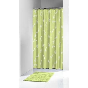 Rideau de douche Amy Sealskin PVC 180x200 cm vert limon