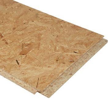 Lot de 3 panneaux OSB3 loft 122x32 cm épaisseur 18mm rainuré et languetté sur 4 côtés