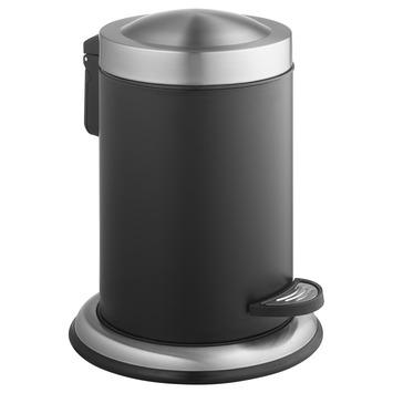 Atlantic pedaalemmer 3 liter rond inox/zwart