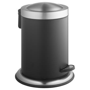 Atlantic pedaalemmer 5 liter inox/zwart