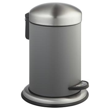 Atlantic pedaalemmer 3 liter rond inox/grijs