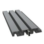 Clôture à lames Duofuse 4x20x200 cm stone grey