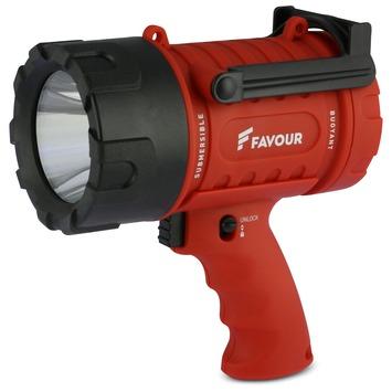 Favour LED werklamp spotlight S0343 rood zwart