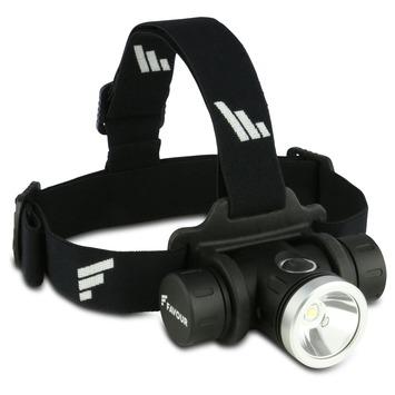Lampe LED frontale avec USB Favour H1217 noir/argenté