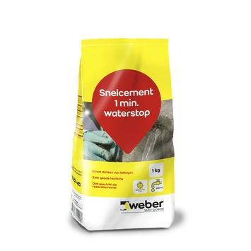 Ciment rapide anti-fuites Weber 1 kg