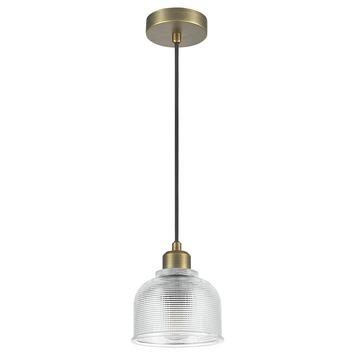 Hanglamp Yorrick glas/messing