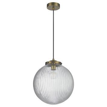 Hanglamp Glen glas/messing