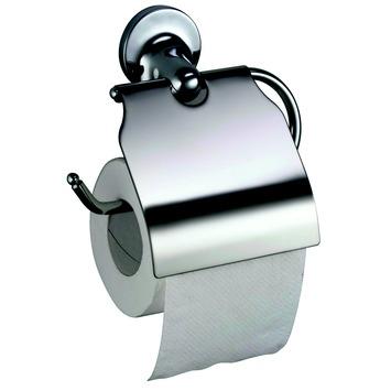 Porte-papier WC avec couvercle Aspen Haceka chromé