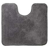 Tapis contour WC Angora Sealskin gris 55x60 cm