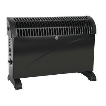 Convectorkachel Turbo 2000 W zwart