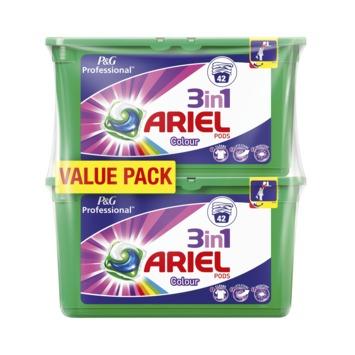 Ariel professional Pods 3-en 1 color  2x42/ 84 lavages