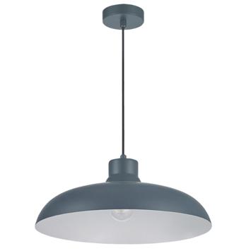Hanglamp Levi metaal grijsblauw