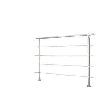 Sogem kit rondo primo + bevestiging vloer, lengte 120 cm, zilver
