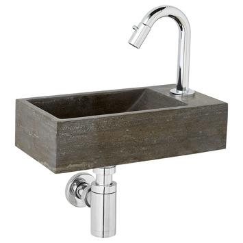 Ensemble de lave-mains pierre naturelle Brody Atlantic droite