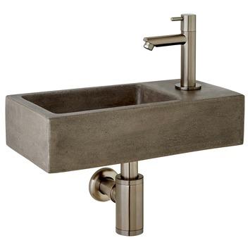 Ensemble de lave-mains modèle droit Ethan Atlantic béton