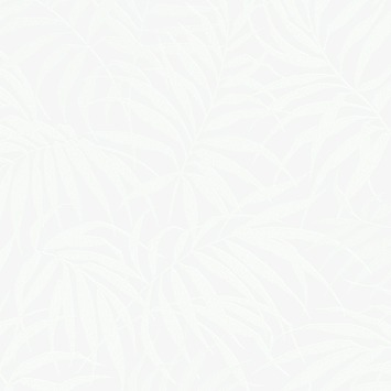 Vliesbehang Tropisch wit-parel 100527