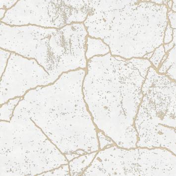 Vliesbehang Kintsugi goud 104869