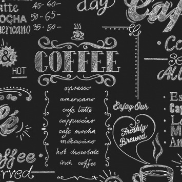 Papier peint intissé Coffeeshop noir/blanc 32-993