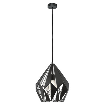 Suspension Eglo Carlton 1 noir argenté