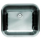 GAMMA spoeltafel met stop 44x38 cm 1 bak inox