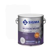 Sigma muurverf reinigbaar mat wit 2,5L liter