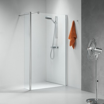 Douche walk-in A1 Impact 118x30x195 cm chromé/argenté  verre transparent
