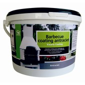 Barbecue coating antraciet 8 kg