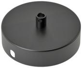 Calex plafondplaat enkelvoudig mat zwart