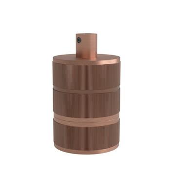 Calex douille 3 anneaux cuivre mat