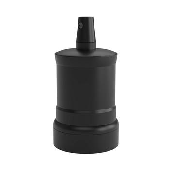 Calex fitting op piek mat zwart